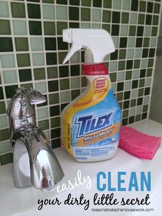 Clean Your Dirty Little Secret with #tilex AD 5 minutes and no scrubbing!