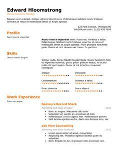 Talented Resume Template  Recipes    Template And Free