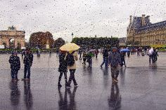 """""""Impression at the Louvre,"""" a photograph from inside The Inverted Pyramid."""