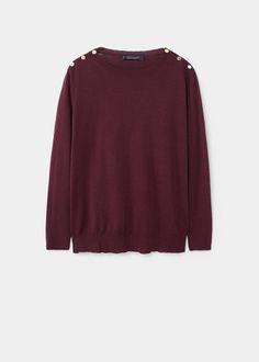 Jersey algodón botones | VIOLETA BY MANGO