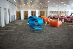 Oval View Reading Lounge, L4 - The James B. Hunt, Jr. Library, located on North Carolina State University NCSU