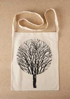 Urban Forest – Natural Sling Tote Bag by Sold / Screenprinted in Black / £8.00 // © Sold 2012