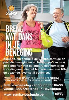 55 plussers die al van jongs af sporten, moeten dat dus vooral blijven doen. Zumba Gold fitness die je kan volgen in Ravelingen Oostende is ideaal voor hen.