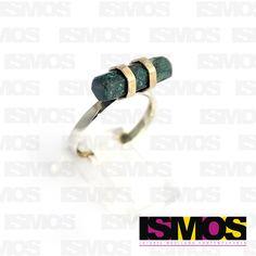 ISMOS Joyería: anillo de plata y malaquita // ISMOS Jewelry silver and malachite ring