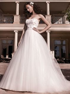 @Bellethemagazine wedding dresses | Casablanca Bridal Fall 2013 | Floor Ivory Ball Gown Sweetheart