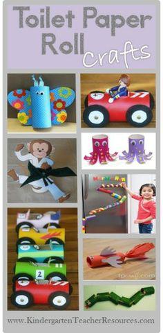 Toilet paper roll craft ideas #Kids #Crafts