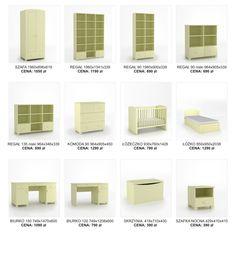 Elementy kolekcji mebli dla dzieci