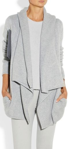 Donna Karan Similar to @CAbi Clothing Multi Topper worn as a sweater