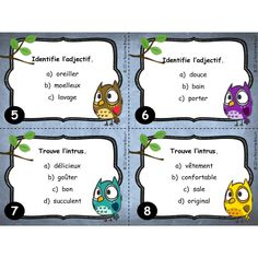 Cartes à tâches : L'adjectif Primary School, Elementary Schools, Classroom Arrangement, School Tool, Class Activities, Teaching French, Teacher Hacks, Teaching Tools, Task Cards