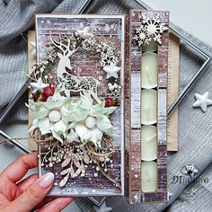 Create Christmas Cards, Christmas Crafts, Mixed Media Scrapbooking, Gift Tags, Diy And Crafts, Shabby Chic, Gift Wrapping, Passion, Winter