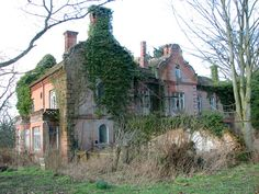 Nature is taking over this century manor house which is scheduled for demolition and rebuild. Abandoned Mansions, Abandoned Houses, Abandoned Places, Derelict House, Old Buildings, Norfolk, 19th Century, Building A House, Restoration