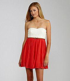 GB Pleated Lace Dress   Dillards.com