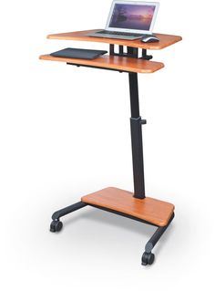 up rite laptop cart with sitstand desk