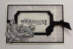 Stampin up vintage verses,with stippled blossom