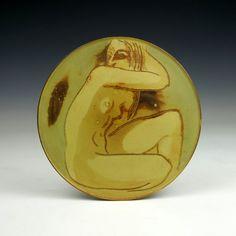 Gustavsberg Design: Wilhelm Kage 'Farsta' A small pottery plate Sweden Ca. Pottery Plates, Art Decor, Art Nouveau, Design