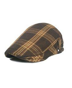 Buy Cotton Flat Cap Gatsby Duckbill Hat Newsboy Ivy Irish Cabbie Scally Cap  - Tweed Soil 0249e7ff90e2