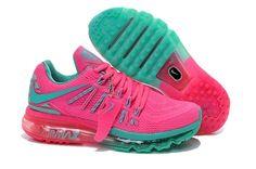 7c443db947b9b Nike Air Max 2015 Womens Shoes TPU KPU Hot Pink Green New Cheap Nike  Running Shoes