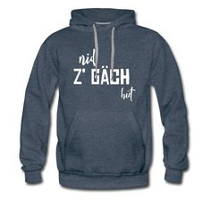 Schweizerdeutsch take it easy - Nid z gäch hüt#hoodie #schweizerdeutsch Red Hoodie, White Hoodie, White Burgundy, Charcoal Color, Hoodies, Sweatshirts, Black Denim, Spring Summer Fashion, Fabric Weights