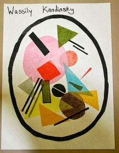 Wassily Kandinsky inspired art project w/ tissue paper