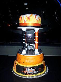 cake table | harley davidson wedding/anniversary party | pinterest