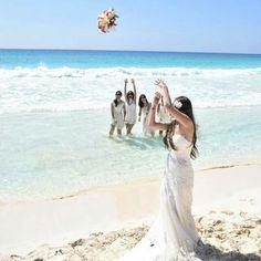 El ramo, casamiento en la playa