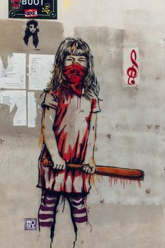Got to be ready for life no matter what. By by vinceryes by urbacolors Graffiti Wall Art, Urban Graffiti, Murals Street Art, Street Art Graffiti, Amazing Street Art, Best Street Art, Amazing Art, Awesome, Banksy