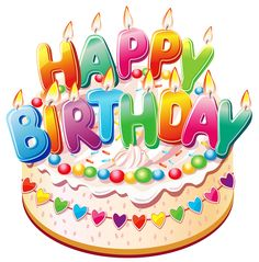 Happy BirthdayCake PNG Clipart Picture #compartirvideos #happybirtday