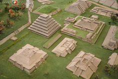 Fotos de El Tajín, Veracruz, México: maqueta del tajin max