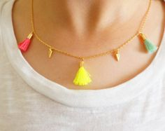 Moonstone Rosary Necklace Gold Vermeil Boho Crystal por minifabo