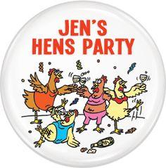 Custom Badge - Hens Party #10