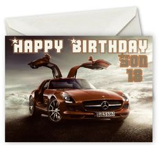Personalised Mercedes Benz Birthday Card