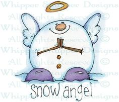 Snow Angel - Snowmen Images - Snowmen - Rubber Stamps - Shop