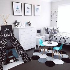 Love this tent and lil kid table w turquoise chairs. Also that lil rug is too cute. Love this tent and lil kid table w turquoise chairs. Also that lil rug is too cute. Boy Toddler Bedroom, Toddler Rooms, Baby Boy Rooms, Girls Bedroom, Little Boy Bedroom Ideas, Little Boys Rooms, Turquoise Chair, Bedroom Turquoise, Ideas Dormitorios