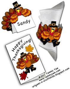 Print and fold Thanksgiving Turkey Projects  Origami n' Stuff 4 Kids
