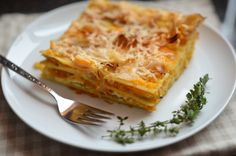 Butternut Squash Lasagna with Apple Cider Onions and Fresh Thyme