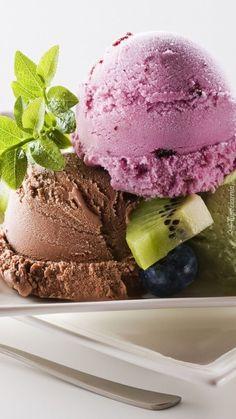 Gelato, Yummy Ice Cream, Ice Cream Parlor, Sorbet, Popsicles, Food Styling, Yogurt, Blueberry, Cottage