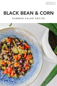 A 10 minute summery salad that goes with anything. Make ahead for a quick lunch all week long.  #plantbasedsalad #plantbasedlunch #avocadorecipes #cornonthecob #saladrecipe Summer Corn Salad, Summer Salad Recipes, Avocado Recipes, Summer Salads, Black Bean Corn, Black Beans, Healthy Salads, Healthy Eating, Lunch