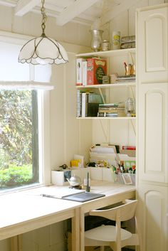 Kitchen nook turned in to a home office nook