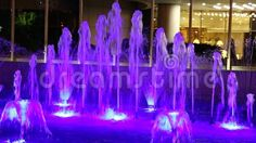 Video about Fountain illuminated in blue decorative in the night. Video of illumination, attraction, freshness - 78133654 Fountain, Scene, Neon Signs, Candles, Architecture, Night, Blue, Image, Decor