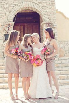 bridesmaids dresses, colors