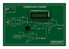 J/K Type Thermocouple Trainer ,a thermocouple is a temperature-measuring device consisting of two dissimilar conductors that contact each other at one or more spots.