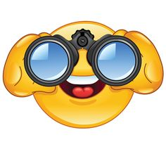 Take a closer look with cool Facebook Binoculars Smiley.