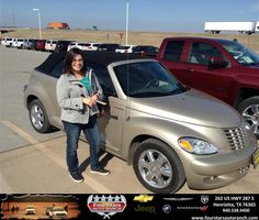 Congratulations to Nadia Garcia on your #Chrysler #PT Cruiser purchase from Everyone at Four Stars Auto Ranch! #NewCar