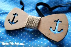 eco Wooden bowtie mariners man bowtie. Groomsmen, best man bow tie Men Accessories. 100% by witaliis on Etsy