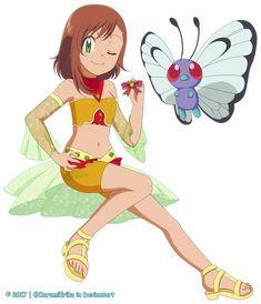 CM: Victoria-Ishikawa ~ Vanessa and Roserade ~ by KurumiErika on DeviantArt Oc Pokemon, Pokemon Waifu, Pokemon Trailer, Cute Characters, Best Artist, Cute Designs, My Images, Fan Art, Deviantart
