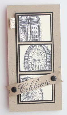 This card is 100% Fabulous - I Love the images, the colors, and the lace tab