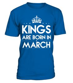 "# KINGS ARE BORN IN MARCH .  Guaranteed safe and secured checkout via: PAYPAL | VISA | MASTERCARD | Ship Worldwide*HOW TO ORDER?1. Select style and color 2. Click ""Buy it Now"" 3. Select size and quantity 4. Enter shipping and billing information 5. Done! Simple as that! TIP: SHARE it with your friends, order together and save on shipping. Need Help Ordering?Email: support@teezily.com OR Call us at 020 3868 8072.Local Time: 8 AM - 6 PM, mon-sat"