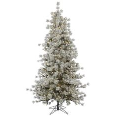 """Vickerman A131546LED 4.5' x 38"""" Flocked Anchorage 200WmWh LED"""