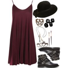 Untitled #135 -by hades-persephone. This is a comfy and stylish option for summer. Love the witchy punk vibe.