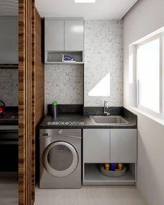 Kitchen Room Design, Laundry Room Design, Home Room Design, Modern Kitchen Design, Interior Design Kitchen, Outdoor Laundry Rooms, Laundry Decor, Laundry Room Bathroom, Space Saving Bathroom
